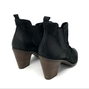 Paul Green Shoes - Paul Green Leather Nubuck Black Ankle Boots